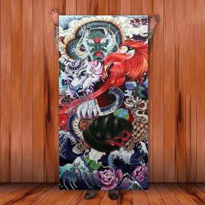 Ukiyo-e Towel L