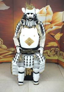 Takeda clan Samurai white Armor