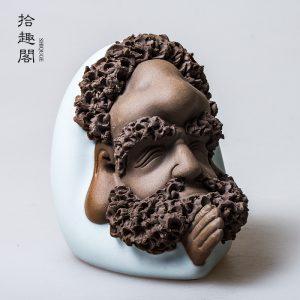 Bodhidharma Daruma Ceramic Tea Pet 1