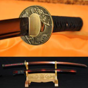 Japanese_Katana_Sword_Damascus _Dragon_Koshirae17
