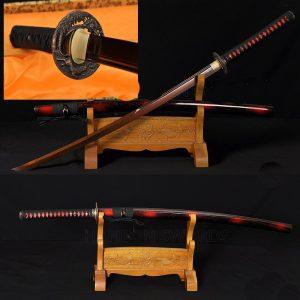 Japanese_Katana_Sword_Damascus _TIGER_LION_Koshirae15