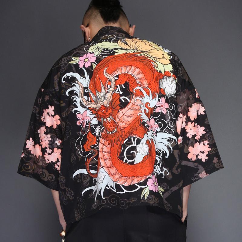 3cc96a92fd0c Red Dragon Kimono Shirt Japonalia4. Home ...