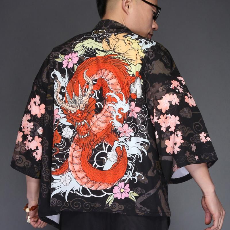 8b4446d75482 Red Dragon Kimono Shirt - Japonalia