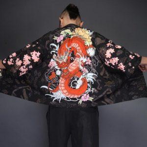 Red Dragon Kimono Shirt Japonalia5