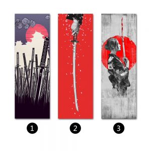 Samurai Girl Solid wood Hanging Scroll decorative painting